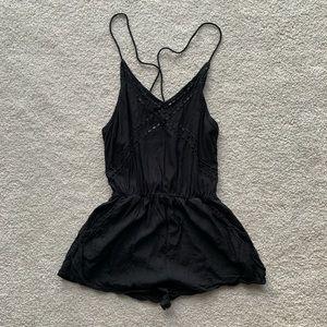 Black Gillia romper